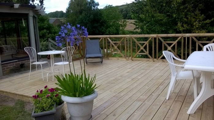 Terrasses en pin autoclave classe 4